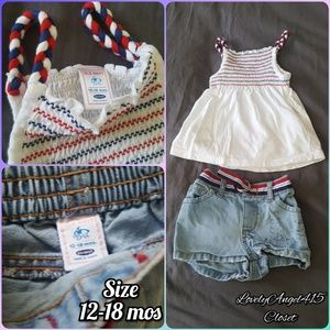Old Navy Baby Summer Tank/Shorts Outfit sz 12-18 m
